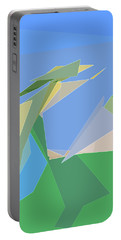 Portable Battery Charger featuring the digital art Hailing A Taxi by Gina Harrison