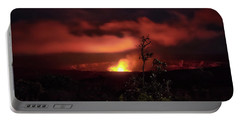 Portable Battery Charger featuring the photograph Halemaumau Crater by Susan Rissi Tregoning