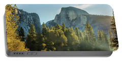Half Dome And Merced River Autumn Sunrise Portable Battery Charger