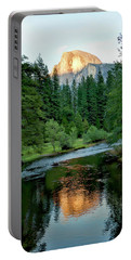 Half Dome Warmed By Setting Sun Portable Battery Charger