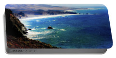 Portable Battery Charger featuring the photograph Half Moon Bay by Karen Wiles
