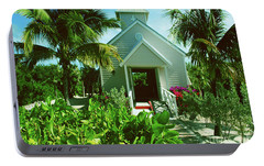 Portable Battery Charger featuring the photograph Half Moon Caye Church by Gary Wonning