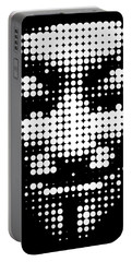 Halftone Anonymous Face  Portable Battery Charger