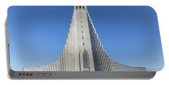 Hallgrimskirka Portable Battery Charger by Wade Courtney