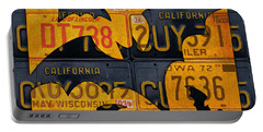 Halloween Bats Recycled Vintage License Plate Art Portable Battery Charger by Design Turnpike