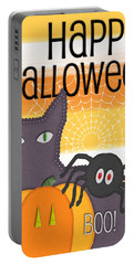 Halloween Friends- Art By Linda Woods Portable Battery Charger