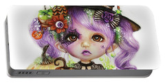 Halloween Hannah - Munchkinz Character  Portable Battery Charger by Sheena Pike