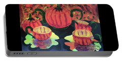 Portable Battery Charger featuring the painting Halloween Holidays by Donald J Ryker III