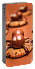 Halloween Homemade Cookie Spiders Portable Battery Charger