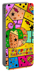 Halloween Popart By Nico Bielow Portable Battery Charger by Nico Bielow
