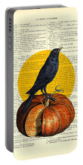 Halloween Pumpkin And Crow Decoration Portable Battery Charger