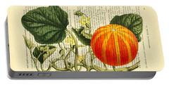 Halloween Pumpkin Antique Illustration Portable Battery Charger