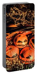 Halloween Pumpkin Head Gathering Portable Battery Charger