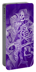 Halloween Skeleton Welcoming The Undead Portable Battery Charger