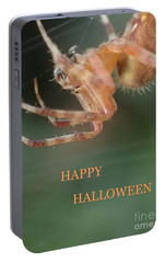 Portable Battery Charger featuring the photograph Halloween Spider by Christina Verdgeline