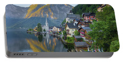 Hallstatt Sunrise Portable Battery Charger by JR Photography