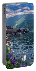 Portable Battery Charger featuring the photograph Hallstatt Swan by Jacqueline Faust