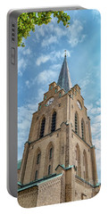Portable Battery Charger featuring the photograph Halmstad Church In Sweden by Antony McAulay