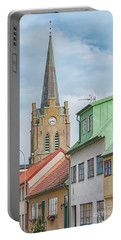 Portable Battery Charger featuring the photograph Halmstad Street Scene by Antony McAulay