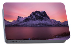 Portable Battery Charger featuring the photograph Halo In Pink by Alex Lapidus