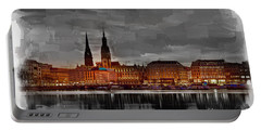 Hamburg Germany Skyline 01 Portable Battery Charger