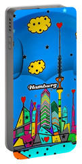 Hamburg Popart By Nico Bielow Portable Battery Charger by Nico Bielow