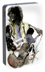 Hammer Of The Gods   Jimmy Page Portable Battery Charger by Iconic Images Art Gallery David Pucciarelli