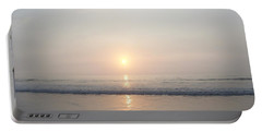 Hampton Beach Sunrise Portable Battery Charger by Eunice Miller