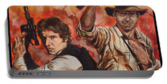 Han Solo And Indiana Jones Portable Battery Charger