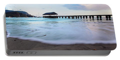 Portable Battery Charger featuring the photograph Hanalei Bay Pier At Sunrise by Melanie Alexandra Price