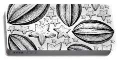 Hand Drawn Background Of Fresh Carambola Fruits Portable Battery Charger