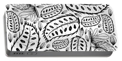 Hand Drawn Background Of Ripe Soursop Fruits Portable Battery Charger