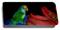 Hand Fed In Abstract Portable Battery Charger