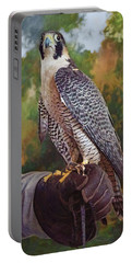 Portable Battery Charger featuring the photograph Hand Of The Falconer by Nikolyn McDonald