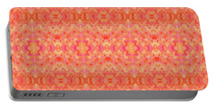 Hand-painted Abstract Watercolor In Orange Tangerine Portable Battery Charger
