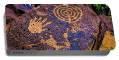 Hand Print On Rock Portable Battery Charger