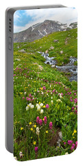 Portable Battery Charger featuring the photograph Handie's Peak And Alpine Meadow by Cascade Colors