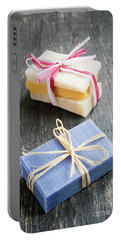 Portable Battery Charger featuring the photograph Handmade Soaps by Elena Elisseeva