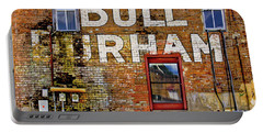 Portable Battery Charger featuring the photograph Handpainted Sign On Brick Wall by David and Carol Kelly