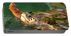 Hands Up For A Plastic Free Ocean Loggerhead Turtle Portable Battery Charger