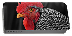 Handsome Plymouth Rock Rooster Portable Battery Charger
