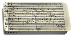 Handwritten Manuscript Score For Kyrie For The Mass In A Flat And E Flat Major Portable Battery Charger