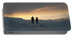 Portable Battery Charger featuring the photograph Hanging Around Iceland by Dubi Roman