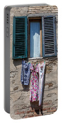Hanging Clothes Of Tuscany Portable Battery Charger