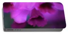 Hanging Purple Tropical Flowers Up Close- Kauai- Hawaii Portable Battery Charger