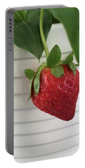 Hanging Strawberry Portable Battery Charger