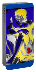 Original Contemporary Painting A Handsome Nude Man Portable Battery Charger