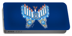 Hanukkah Butterfly Portable Battery Charger
