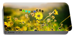 Happiness Portable Battery Charger by Joseph S Giacalone