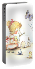Portable Battery Charger featuring the drawing Happiness by Sorin Apostolescu